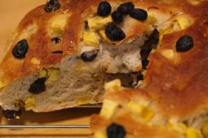 ラムレーズンとサツマイモのパン
